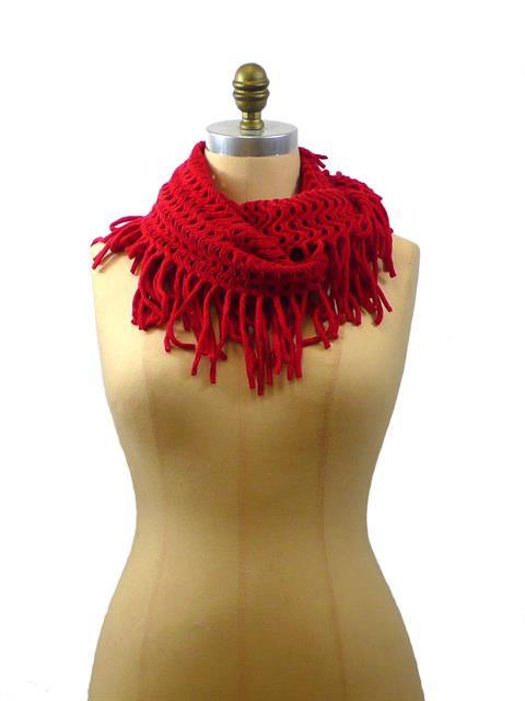 Endless Fringed Scarf