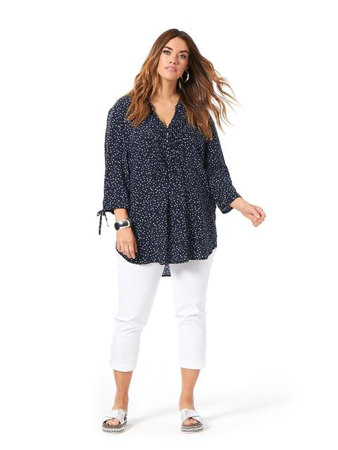 The Blues Spotty Pleat Top
