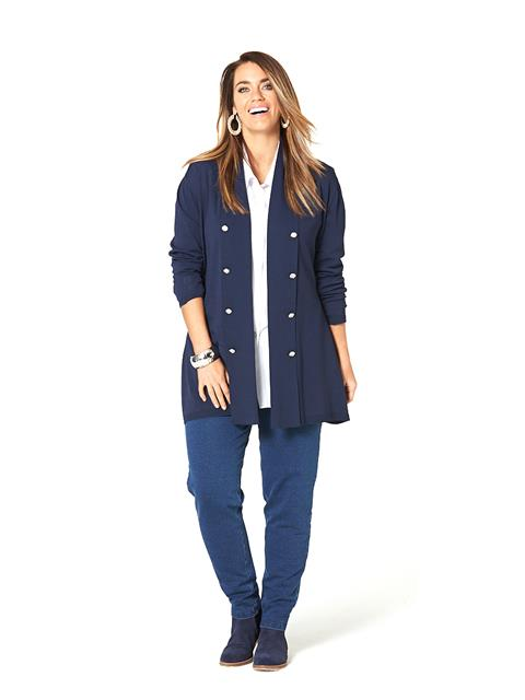 Into The Blues Military Cardi###