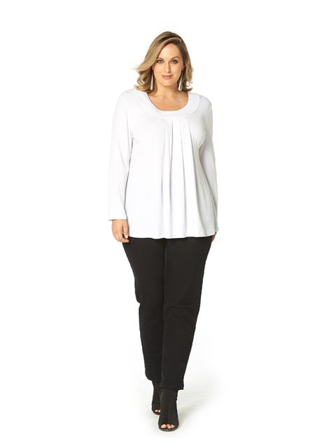 Essential Plume Pleated Top