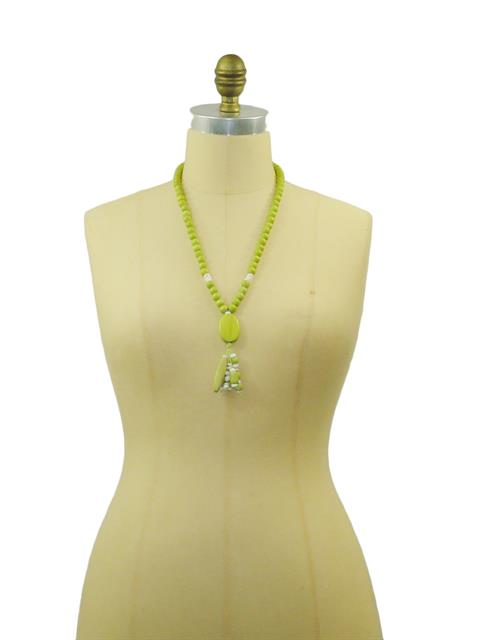 Lime Dangle Necklace#